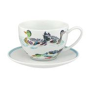 Ducks Large Saucer and Cup