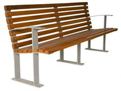 Public bench / contemporary / steel / in wood SIR  GLS Prefabricados