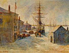 Derby Wharf, Philip Little (1857-1942), American, 1840-50, oil on canvas