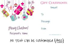 Free Printable Holiday Gift Certificates Christmas Gift Certificate Template  You Can Add A Family Photo .