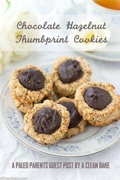 Chocolate Hazelnut Thumbprint Cookies Feature, Paleo Parents Guest Post: Chocolate Hazelnut Thumbprint Cookies, A Clean Bake