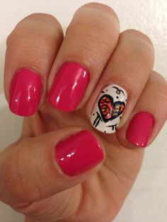 Romero Britto nails Heart Nails, Manicure Ideas, Nail Art, Awesome, Holiday, Beauty, Gorgeous Nails, Romero Britto, Fingernail Designs