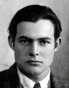 Ernest Hemingway. 1923 passport photo.