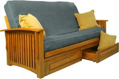 wonderful futon sofa bed with storage and pillows