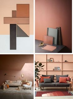 terracotta and grey in interiors