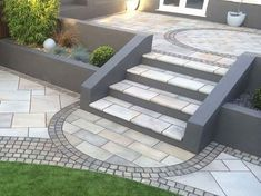 Trust Marshalls and discover beautiful granite garden paving for your path or patio project - Get inspiration and find your local stockist here Back Garden Design, Modern Garden Design, Backyard Garden Design, Contemporary Garden, Patio Design, Backyard Patio, Backyard Landscaping, Landscape Design, Backyard Hammock