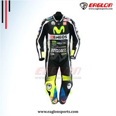 Description Valentino Rossi Black Yamaha Movistar Motogp 2016 Leather Race Suit is designed for professional bikers to show their love toward him and YamahaBike on the track. This suit is made of Cowhide leather with thickness of 1.2-1.3 mm and Schoeller Kevlar Fabric for complete safety and comfort of rider. There is certified carbon inserted …