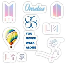 Bts Love Yourself stickers featuring millions of original designs created by independent artists. Kpop Stickers, Tumblr Stickers, Phone Stickers, Journal Stickers, Diy Stickers, Printable Stickers, Planner Stickers, Logo Sticker, Sticker Design