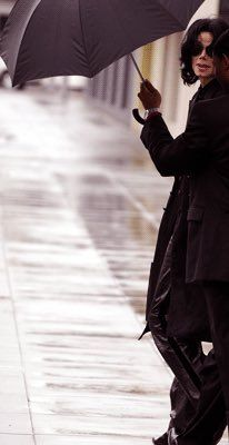 Michael in the rain