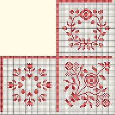 the round motifs would make great table mats, the corner one could be done four times for a small tablecloth--filet