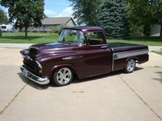1957 Chevrolet 57 Chevy Trucks, Old Pickup Trucks, Hot Rod Trucks, Cool Trucks, Cool Cars, Defender 90, Land Rover Defender, Antique Trucks, Vintage Trucks