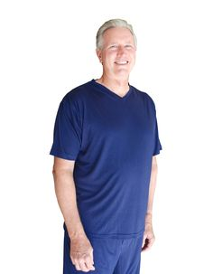 Cool-jams Moisture Wicking Sleepwear for Men V-Neck Pajama Top   X-Large 27a60f871