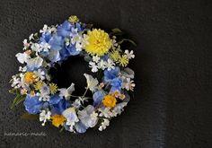 ハンドメイドマーケット minne(ミンネ)| 月夜と秋草花:wreath