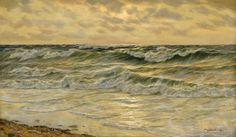 Kalckreuth, Patrick von 1892 Kiel - 1970 Düsseldorf Meeresbrandung. Signiert. Öl/Lwd., 70 x 120 cm