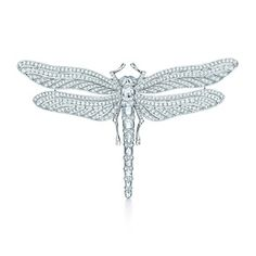 Diamond dragonfly brooch in platinum with rose-cut and round brilliant diamonds. Terri and Jen if only I was RICH!!
