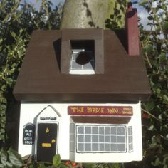 Your very own pub for the garden..for the birds to visit. Handmade and personalised, this makes a fabulous gift and you can enjoy watching the birds come and go all day long now the evenings are getting lighter.