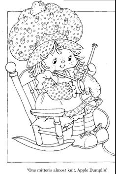 Vintage Strawberry Shortcake Color Pages Google Search Strawberry
