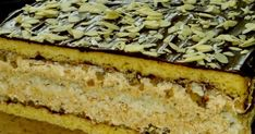 Homemade cakes and dinners: Almond cake Grandfather Holiday Desserts, Holiday Recipes, Sweet Recipes, Cake Recipes, Hungarian Cake, Walnut Cake, Sandwich Cake, Traditional Cakes, Polish Recipes