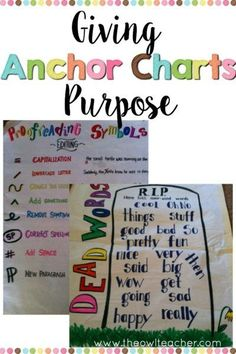 Learn how to use anchor charts in your classroom effectively so that students…