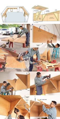 Did you know that an average garage has 150 square feet of unused space. Learn how to build a storage system that uses this unused space.