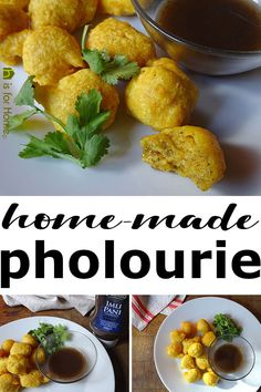 Every food stall I visited in Trinidad either didn't sell or had run out of the delicious snack. Now that I'm back, I've cooked my own home-made pholourie. Veggie Recipes, Indian Food Recipes, Ethnic Recipes, Trinidadian Recipes, Trinidad Food, Tamarind Sauce, Breakfast Recipes, Dessert Recipes, Hidden Veggies