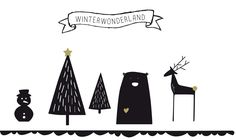 Printable | Christmas forest vtwonen