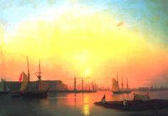 Exchange of Petersburg- Ivan Aivazofsky, 1847