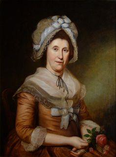 Charles Peale | PORTRAIT OF MRS. JOSEPH DAFFIN | oil on canvas | 25-1/4 x 27"
