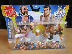 WWE Rumblers Slam City DAMIEN SANDOW VS. ALBERTO DEL RIO & CUP Action Figure NEW
