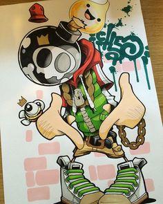 Sketchin... #cheo #sketch Graffiti Canvas Art, Graffiti Piece, Graffiti Drawing, Cool Art Drawings, Graffiti Alphabet, Street Art Graffiti, Cartoon Drawings, Art Sketches, Frankenstein Art