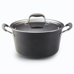 Anolon Advanced 7 Qt. Covered Windsor Stockpot - $79.99    The Windsors may be modern day royalty, but this Windsor-shaped pan has been a part of the batterie de cuisine of many great chefs for a long time. Its flared sides create larger surface area at the top of the pan, so liquids reduce more quickly. This multitalented pan can be used for many foods, like stocks, pasta, and blanching vegetables.