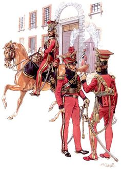 """""""Napoleon's Red Lancers: Officers"""", Patrice Courcelle"""