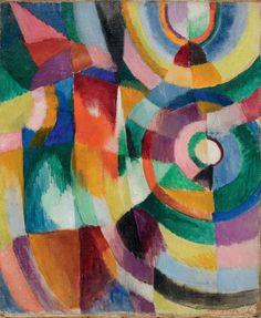 """Electric Prisms"" 1913  Sonia Delaunay."