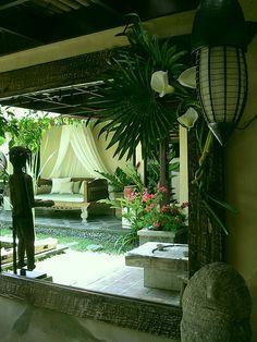Villa 5 Amertha Bali Villas Back Garden Trellis