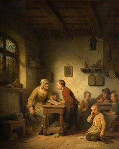 Ferdinand de Braekeleer I (1792-1883) —   A Belgian School  : Wolverhampton Art Gallery,   Wolverhampton,  the West Midlands, United Kingdom (753x944)