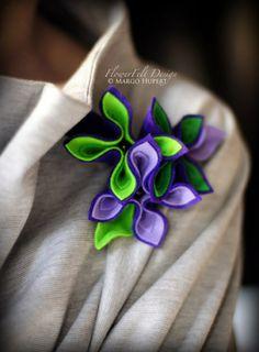zielenie i fiolety de FlowerFelt Design by Margo Hupert sur DaWanda.com