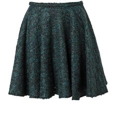 KENZO Bouclé tweed miniskirt ($475) found on Polyvore