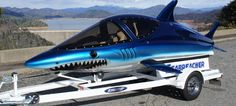 A boat/submarine that looks like a freaking shark.and it can jump out of the water? Sign me up! Power Boats, Speed Boats, Cool Boats, Urban Park, Jet Ski, Submarines, Luxury Yachts, Water Crafts, Water Sports