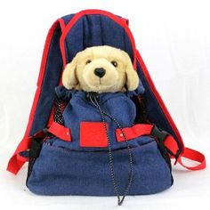 Dog Puppy Pet Front Style Pouch Carrier Backpack Denim Inside safety leash hook to secure your pet in the Dog Carrier bag. Side open mesh net so the dog can get a good breather. 3 outside pockets around the bag for all your pet's goodies. Denim Backpack, Dog Backpack, Fashion Backpack, Dog Carrier Bag, Service Dogs, Working Dogs, Small Dogs