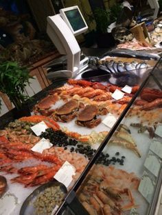 Seafood at Harrods, London.