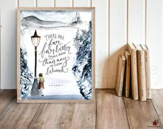 There are far, far better things ahead than any we leave behind. Perfect for any Narnia lover, this piece illustrates one of C. S. Lewiss most beloved quotes. The colors print crisply and beautifully! --- Welcome to Sweetpages! Before placing your order, please take time to read the information below. ♥♥♥ [ R E M I N D E R S: ] ---This is a digital download and no physical item will be shipped! ---You are purchasing a 300dpi high resolution JPEG file formatted to 8 inch x 10 inch. This is…