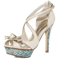 Cream Platform Sandals - Dorothy Perkins $75