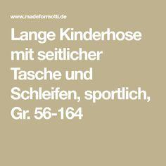 Lange Kinderhose mit seitlicher Tasche und Schleifen, sportlich, Gr. 56-164