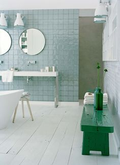 A completely different idea for walls of shower - could be with concrete on the floor OR a simple 12 x 24