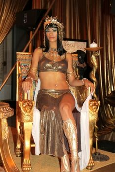 A scene from the opening preview of the new fabulous Cleopatra exhibit at the California Science Center