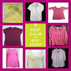 *HUGE LOT* (8) Sweaters & Tops All Sz X-Large, from a smoke-free home -- All measurements taken flat--  --Under Armour Heatgear Top --The Limited V-neck sweater --Pink No Boundaries Top --Pink Gildan Long Sleeve --Yellow Fila Top --Dark Pink Charlotte Russe embroidered top --Rue 21 Lace Sleeve Top --No Boundaries White button up Tops
