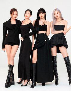 Blackpink Outfits, Fashion Outfits, Mode Pop, Blackpink Poster, Black Pink Kpop, Blackpink Fashion, Fashion Black, Blackpink Photos, Jennie Blackpink