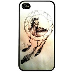 Horses dreamcatcher iphone 4 case, colorful  iphone 4s case, iphone cover, horse lovers iphone