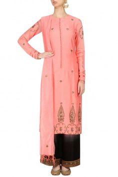 Radhika Airi Pastel Pink Embroidered Kurta with Pants #happyshopping #shopnow #ppus