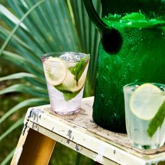 Refreshing! And potentially debilitating, so be careful. This recipe was originally made with Lawn Dart ginger-lemon liqueur, but Absolut Citron will work.